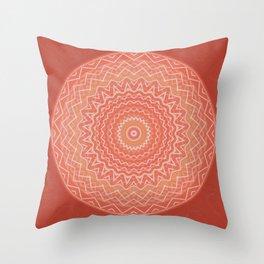 Mandala Boho-Chic orange Throw Pillow