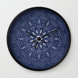 Indigo Mystique Mandala Wall Clock
