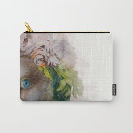 Animal Art - Owl Painting Carry-All Pouch