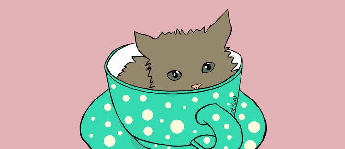Fluffy Kitten In A Teacup Pink Background Coffee Mug