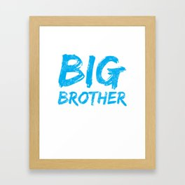 Big Brother Again Gift Promoted to Big Brother New Baby Sibling Framed Art Print