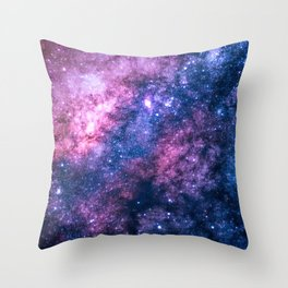 Cotton Candy Milky Way Throw Pillow