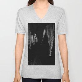 Caverns in Black and White Unisex V-Neck