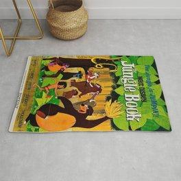 1961 Jungle Book Original US Film Movie Poster Rug