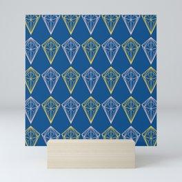 Lapis Blue Geometric Pattern Mini Art Print