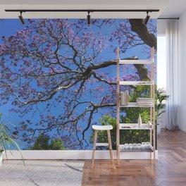 Blue Jacaranda 1/3 Wall Mural