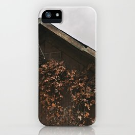 Camouflage - Red Leaves on Barn iPhone Case