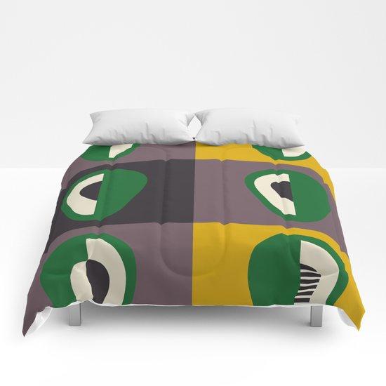 Avocado print Comforters