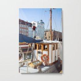 cruisin the copenagen canal Metal Print
