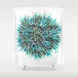 Cactus Crown 1. Blue & Green #decor #buyart Shower Curtain