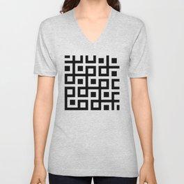 Geometric Pattern 33 (square loop) Unisex V-Neck