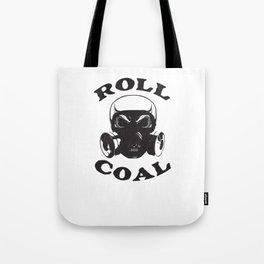 Roll Coal Gas Mask Skull Diesel Power Offroad Fuel Black Tote Bag