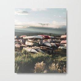 Alaskan Canoe // Storage in the Wilderness for the Adventureous in Spirit Metal Print