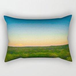 Dusk Falls Over The Pocono Mountains Rectangular Pillow