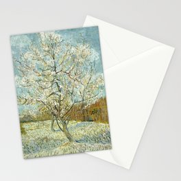 Vincent Van Gogh Peach Tree In Blossom Stationery Cards