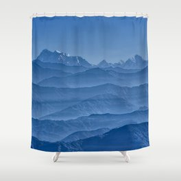 Blue Hima-layers Shower Curtain