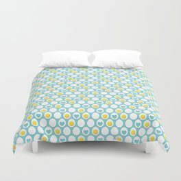 Eggs and hearts Duvet Cover