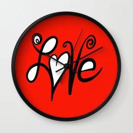 Spread the Love Wall Clock