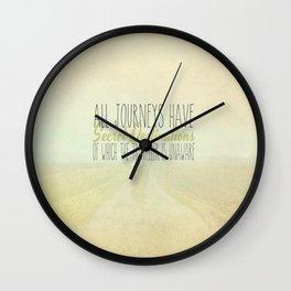 All Journeys Have Secret Destinations  Wall Clock