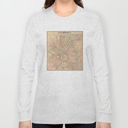 Vintage Map of Rockford IL (1886) Long Sleeve T-shirt