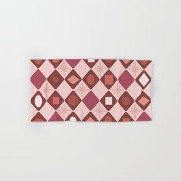 Mid Century Modern Rosewood Diamonds Hand & Bath Towel