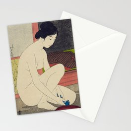 Woman after a bath by Goyo Hashinguchi, 1915 Stationery Cards