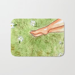 Clothed in Sunshine Bath Mat