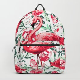 Flowers and Flamingos Backpack