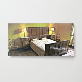 Sardinian bed room  Metal Print