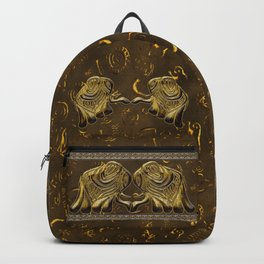 African elephant with ethnic motives V2 V Backpack Backpack