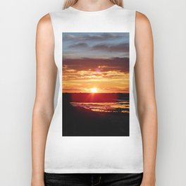 Ground Level Sunset Biker Tank