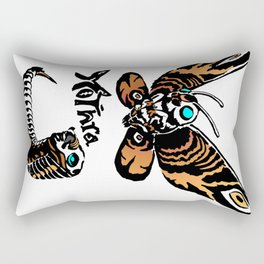 Mothra Kaiju Print Rectangular Pillow