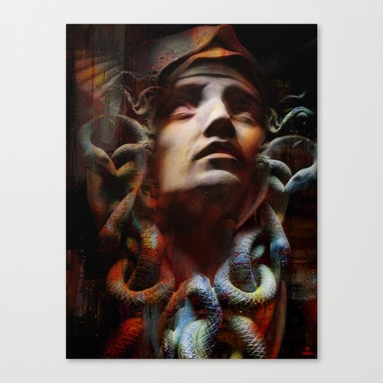The last moments of Medusa Canvas Print