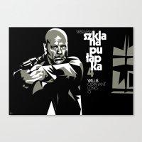 die hard Canvas Prints featuring DIE HARD 4 POSTER by Paweł Kamiński (pawjanka)