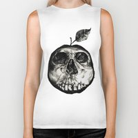 apple Biker Tanks featuring Apple by Black Bird
