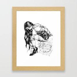 BDSM Bondage Girl, Shibari Art, Rope Bunnie, Kinky, Fetish, Submissive, Bondage Framed Art Print
