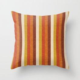 Old West Stripes Yellow Throw Pillow
