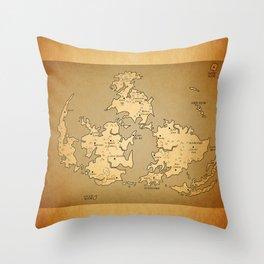Gaia Midgar Final Fantasy VII Map Throw Pillow