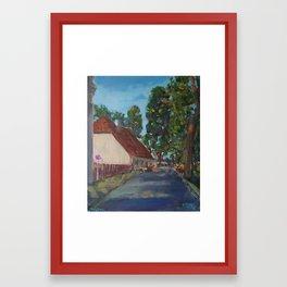 Guardhouse in Kuldiga Framed Art Print