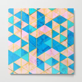 Marble Triangle Tile Nice (France) Metal Print