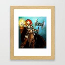Astrid, casting Framed Art Print