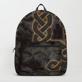Decorative celtic knot, vintage design Backpack