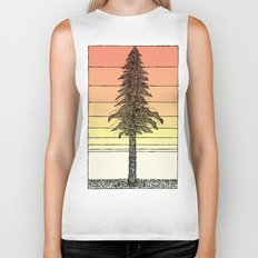 Coastal Redwood Sunset Sketch Biker Tank