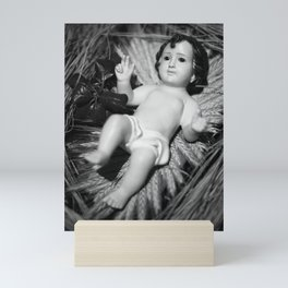 Baby Jesus in the crib Mini Art Print