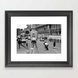 Man at Work Framed Art Print