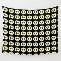 lantern Wall Tapestries featuring Skull Lantern by KristenOKeefeArt