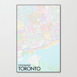 Typographic Toronto (Full Version) Canvas Print