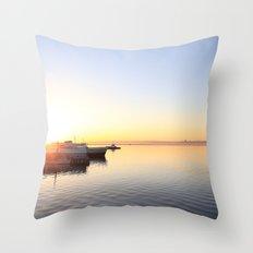 pastel on the horizon Throw Pillow