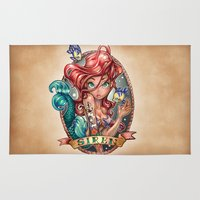 large Area & Throw Rugs featuring SIREN by Tim Shumate