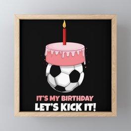 Soccer Player Birthday Framed Mini Art Print